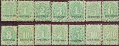 Postage Due SG D13s-D44s ACSC D12x-D45x SPECIMEN set of 14(AD1/19)